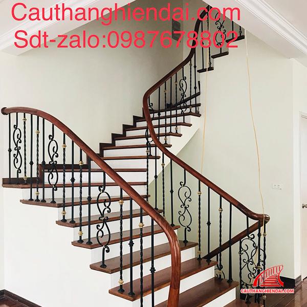 Cầu thang sắt nghệ thuật 52
