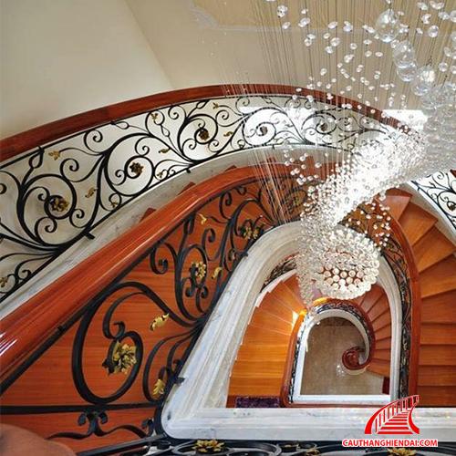 Cầu thang sắt nghệ thuật 21