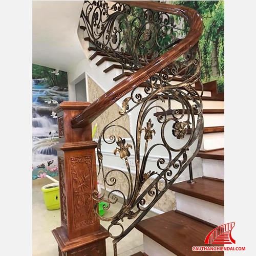 Cầu thang sắt nghệ thuật 35
